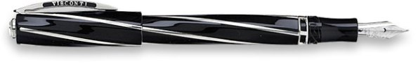 Black Oversized Visconti Divina Fountain Pen.