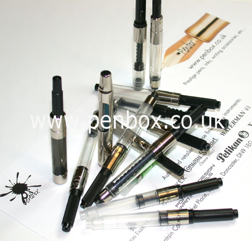 Parker, Waterman, Sheaffer, Dupont fountain pen converters.
