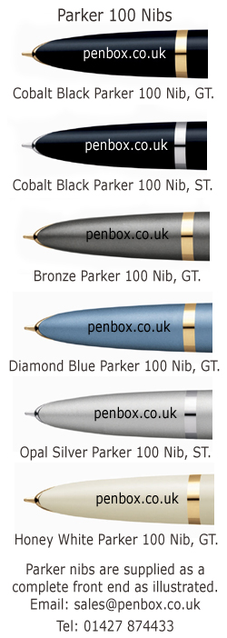 Parker 100 nibs for fountain pens