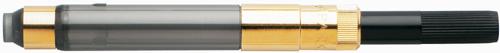 Gold trim Parker pen converters.
