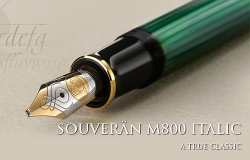 M800 Pelikan Souveran Italic fountain pen.