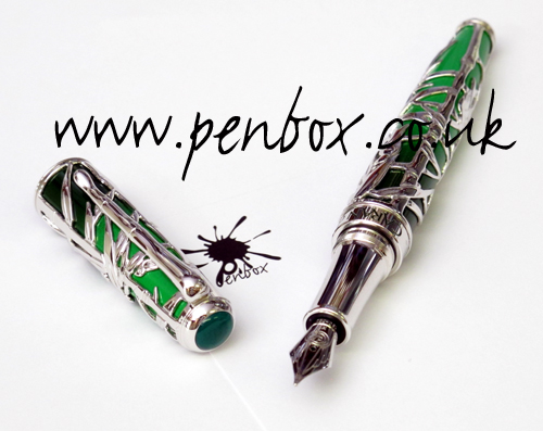Limited edition Caran d'Ache Bamboo fountain pen in silver.