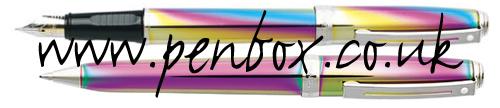 Plasma Rainbow Sheaffer Prelude pen set offer.