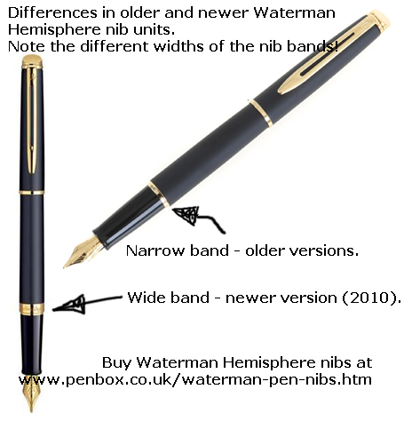 Waterman Hemisphere nibs
