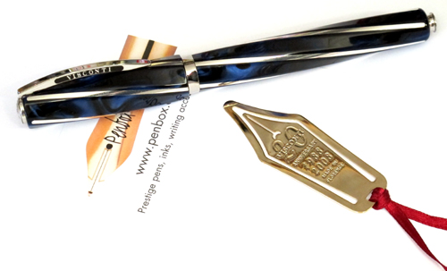 Limited edition Typhoon Blue Divina fountain pen from Visconti.