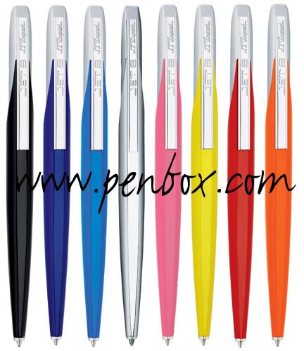 S T Dupont Jet 8 ballpoint pens.