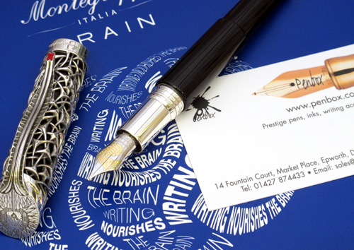 The limited edition Montegrappa Brain fountain pen.