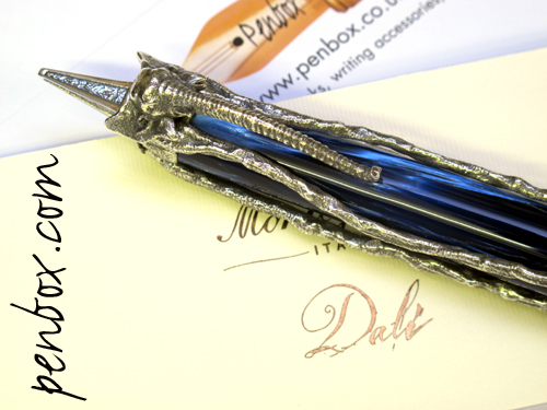 Montegrappa Salvador Dali fountain pen in silver.