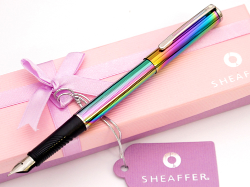 Sheaffer Agio Rainbow fountain pen.