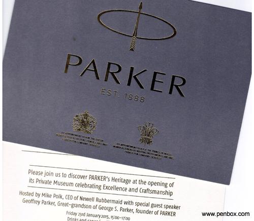 Parker Museum invite.