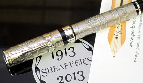 Limited edition silver Sheaffer Centennial fountain pen.