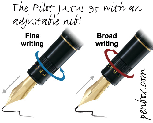 Pilot Justus 95 fountain pen.