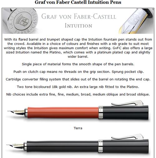 Graf von Faber Castell Intuition.