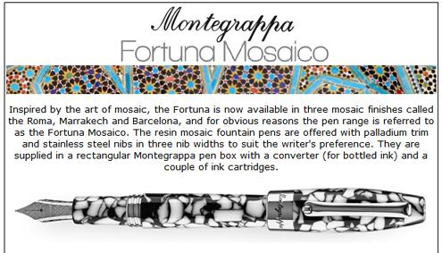 Montegrappa Mosaico pens.