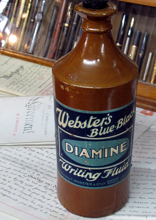 Webster Co. Ltd. Diamine ink bottle.