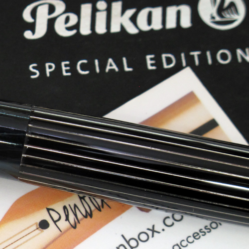 Special edition M815 Metal Striped Pelikan Souveran.