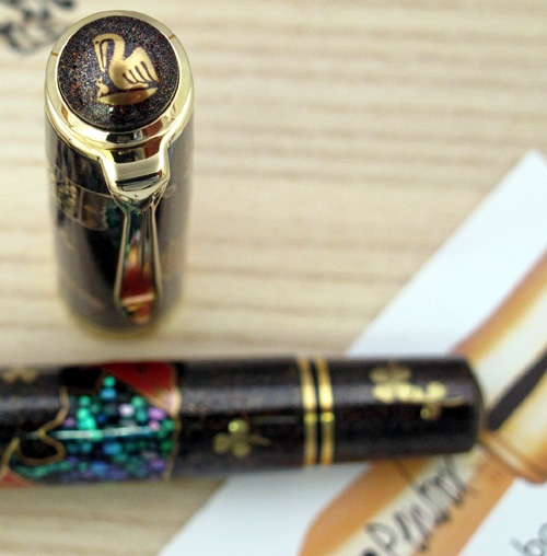 Pelikan Maki-e Five Lucky Bats fountain pen.
