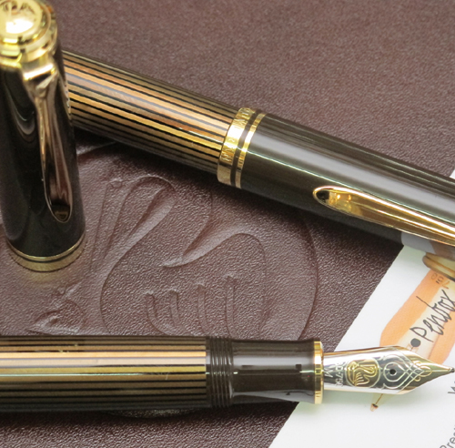 M800 Pelikan Souveran Brown Black fountain pen.