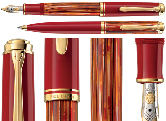 Special Edition M600 Pelikan Souveran Tortoiseshell Red fountain pen.