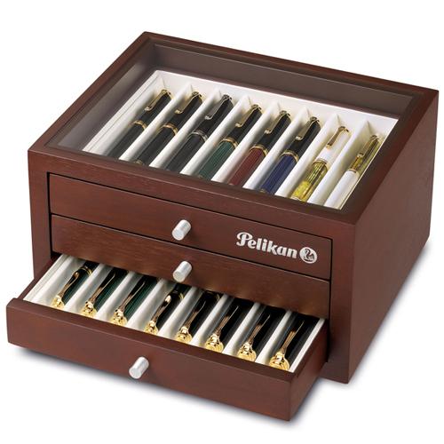 Pelikan collectors cabinet for pens.