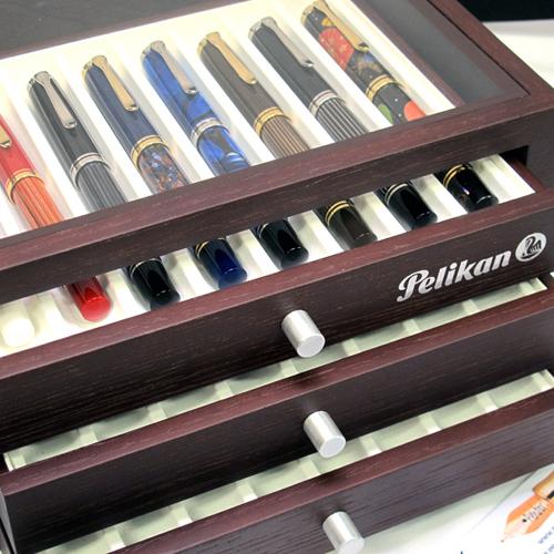 Pelikan pen collector cabinet.